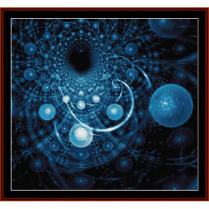 fractal 454 cross stitch pattern by cross stitch collectibles