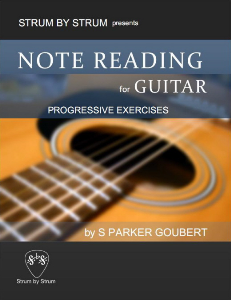 note reading for guitar: progressive exercises
