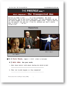 the prestige, the transported man, short-sequence english (esl) lesson