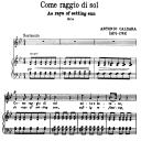 Come raggio di sol, High Voice in G minor, A. Caldara. For Soprano, Tenor. Song Classics, Edited by Horatio Parker. J. Church Publ. (1912) | eBooks | Sheet Music