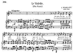 le violette, medium voice in g major, g. giordani. for soprano, tenor. song classics, edited by horatio parker. j. church publ. (1912)