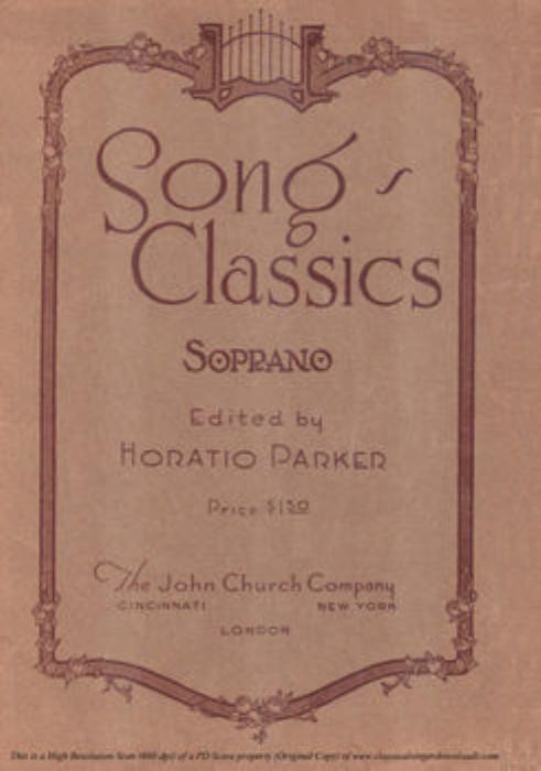 First Additional product image for - Pur dicesti o boca bella, Medium Voice in D Major, A Lotti. For Mezzo, Soprano, Baritone. Song Classics, Edited by Horatio Parker. J. Church Publ. (1912)