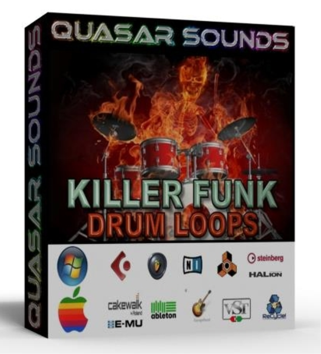 First Additional product image for - Killer Funk Drum Loops Breakbeats + Wave / Midi +