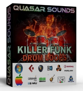 killer funk drum loops breakbeats + wave / midi +