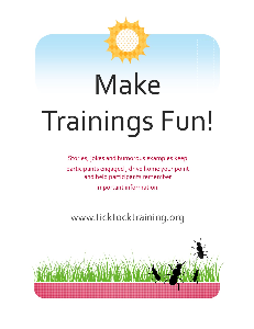 make trainings fun