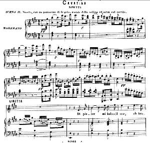 di piacer mi balza il cor (cavatina for soprano). g. rossini: la gazza ladra, vocal score. ed. ricordi, italian.(1876)