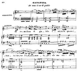 Ah come il cor di giubilo. Cavatina for Tenor (Lindoro). G. Rossini: L'italiana in Algeri, Vocal Score. Ed. Ricordi. 1891, italian. | eBooks | Sheet Music
