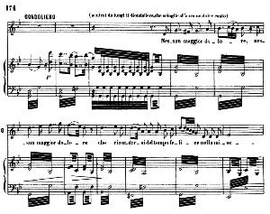 nessun maggior dolore. aria for tenor (gondoliero). g. rossini: otello, vocal score. ed. ricordi, 1874, italian.