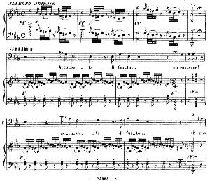accusata di furto. aria for bass (fernando). g. rossini: la gazza ladra (the thieving magpie), vocal score. ed. ricordi. 1878 (pd). italian.