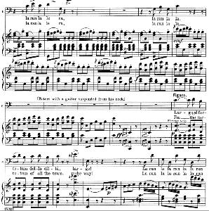 largo al factotum: aria (cavatina) for baritone (figaro). g. rossini: il barbiere di siviglia (the barber of seville), vocal score, ed. schirmer. 1900, it-engl.