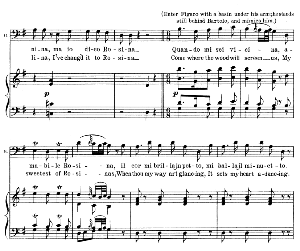 quando mi sei vicina. aria for bass (bartolo). g. rossini: il barbiere di siviglia (the barber of seville, vocal score. ed. schirmer. 1900 (pd). it-engl.