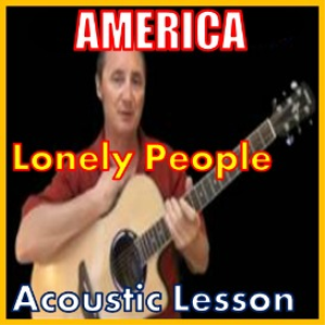 learn to play lonely people by america