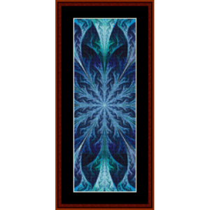 fractal 451 bookmark cross stitch pattern by cross stitch collectibles