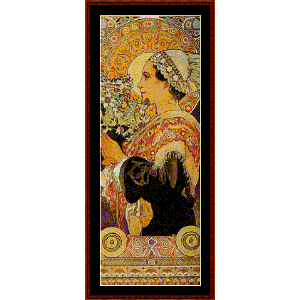 thistle from the sands - mucha cross stitch pattern by cross stitch collectibles