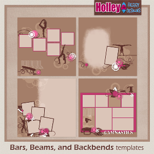 Bars, Beams, and Backbends Templates | Other Files | Scrapbooking