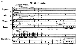 No.2 Gloria: Choir SATB and Piano. Great Mass in C Minor K.427, W.A. Mozart. Vocal Score (Alois Schmitt) Ed. Breitkopf (1901).  Latin. | eBooks | Sheet Music