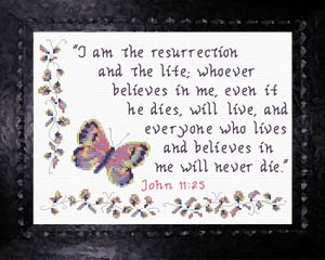 I Am The Resurrection | Crafting | Cross-Stitch | Other