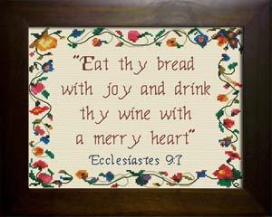 thy bread with joy