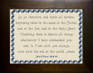 Teach All Nations | Crafting | Cross-Stitch | Religious