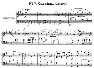 No.7 Quoniam: Solo Trio Soprano, Mezzo, Tenor, and Piano. Great Mass in C Minor K.427, W.A. Mozart. Vocal Score (Alois Schmitt) Ed. Breitkopf (1901). Latin. | eBooks | Sheet Music