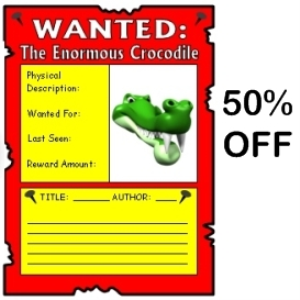 50% Off Enormous Crocodile Wanted Poster | Documents and Forms | Templates