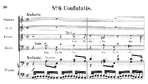 No.6 Confutatis: Choir SATB and Piano. Requiem K.626, W.A. Mozart. Vocal Score (Friedrich Brissler), Ed. Peters (1895). Latin. | eBooks | Sheet Music