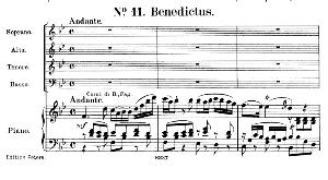 No.11 Benedictus: Solo quartet SATB, Choir SATB and Piano. Requiem K.626, W.A. Mozart. Vocal Score (Friedrich Brissler), Ed. Peters (1895). Latin. | eBooks | Sheet Music