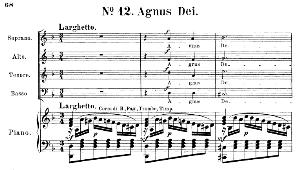 No.12 Agnus Dei: Choir SATB and Piano. Requiem K.626, W.A. Mozart. Vocal Score (Friedrich Brissler), Ed. Peters (1895). Latin. | eBooks | Sheet Music