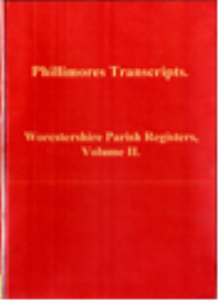 worcstershire parish registers, volume ii.
