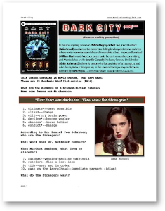 DARK CITY, Whole-Movie English (ESL) Lesson | eBooks | Education