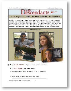 the descendants, the truth about paradise, short-sequence english (esl) lesson