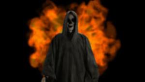 reaper on fire