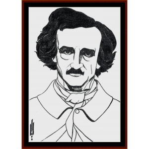 Edgar Allen Poe - Beardsley cross stitch pattern by Cross Stitch Collectibles | Crafting | Cross-Stitch | Other