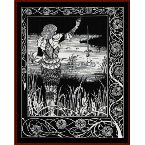 excalibur in the lake - beardsley cross stitch pattern by cross stitch collectibles
