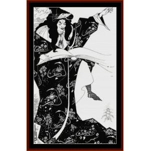 virgilus the sorcerer - beardsley cross stitch pattern by cross stitch collectibles