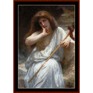 Bacchante, 1899 - Bouguereau cross stitch pattern by Cross Stitch Collectibles | Crafting | Cross-Stitch | Wall Hangings