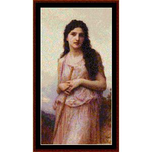 Meditation, 1902 - Bouguereau cross stitch pattern by Cross Stitch Collectibles | Crafting | Cross-Stitch | Wall Hangings