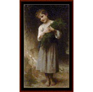 Back Fields, 1898 - Bouguereau cross stitch pattern by Cross Stitch Collectibles | Crafting | Cross-Stitch | Other