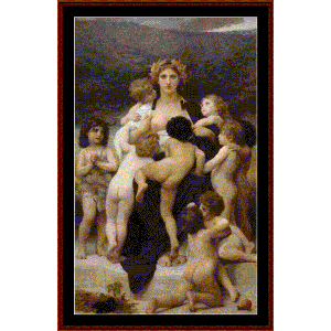 the motherland, 1883 - bouguereau cross stitch pattern by cross stitch collectibles
