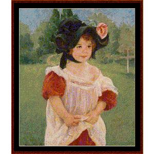 Fillette dans Yun Jardin - Cassat cross stitch pattern by Cross Stitch Collectibles | Crafting | Cross-Stitch | Wall Hangings