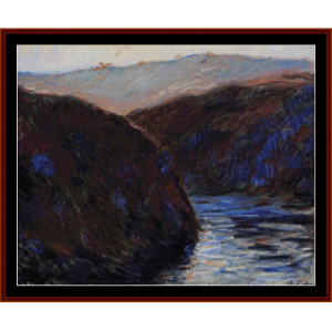 The Creuse Valle, Evening - Monet cross stitch pattern by Cross Stitch Collectibles | Crafting | Cross-Stitch | Wall Hangings
