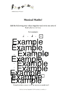 musical maths extension worksheet