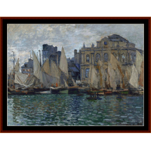 view of le havre, 1873 - monet cross stitch pattern by cross stitch collectibles
