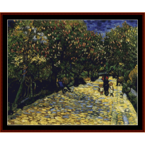 Ave. of Flowering Chestnut Trees - Van Gogh cross stitch pattern by Cross Stitch Collectibles | Crafting | Cross-Stitch | Other