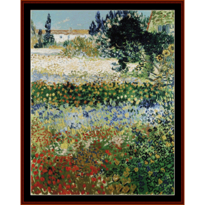 Flowering Garden, 1888 - Van Gogh cross stitch pattern by Cross Stitch Collectibles | Crafting | Cross-Stitch | Wall Hangings