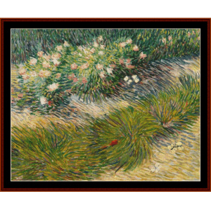 Grass and Butterflies, 1887 - Van Gogh cross stitch pattern by Cross Stitch Collectibles | Crafting | Cross-Stitch | Wall Hangings