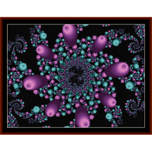 Fractal 461 cross stitch pattern by Cross Stitch Collectibles | Crafting | Cross-Stitch | Wall Hangings