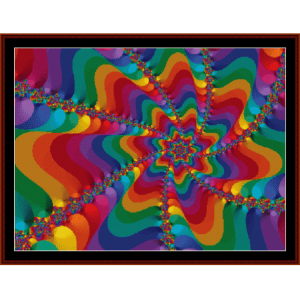 Fractal 463 cross stitch pattern by Cross Stitch Collectibles | Crafting | Cross-Stitch | Wall Hangings
