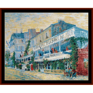 Restaurant de la Sirene at Asnieres - Van Gogh by Cross Stitch Collectibles   Crafting   Cross-Stitch   Wall Hangings
