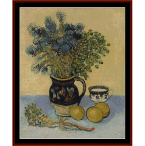 Wildflowers in a Majolica Jug - Van Gogh cross stitch pattern by Cross Stitch Collectibles | Crafting | Cross-Stitch | Wall Hangings